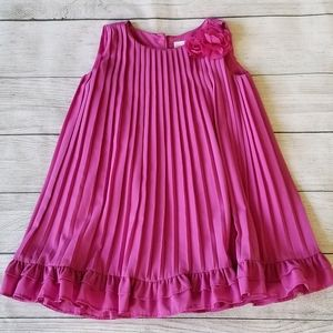 Gymboree Pink Pleated Family Brunch Shift Dress